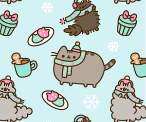 wallpaper, cat, and winter image