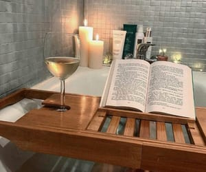 book, bath, and aesthetic image