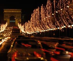 light, christmas, and paris image