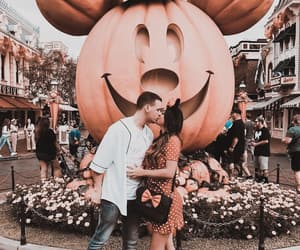 couple, disneyland, and mickey mouse image