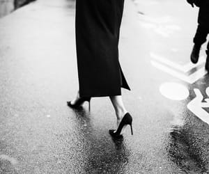 fashion, black and white, and heels image
