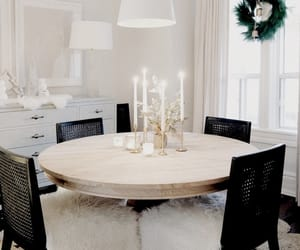 christmas, design, and dining room image