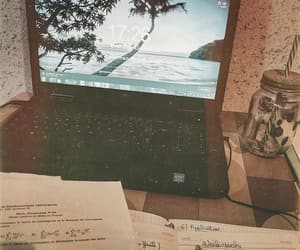 aesthetic, college, and desk image