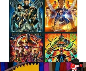 black panther, Marvel, and peliculas image