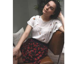 blouse, floral skirt, and romantic image