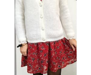 cardigan, ruffles, and floral dress image