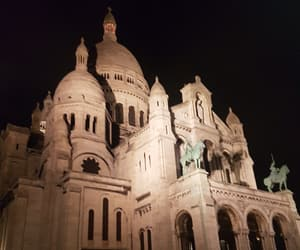 lumiere, sacre coeur, and night image