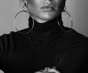 black and white, style, and earrings image