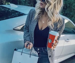 blogger, fashion, and coffee time image