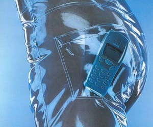 blue, 90s, and nokia image