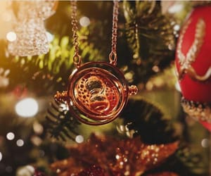 christmas, gold, and harry potter image