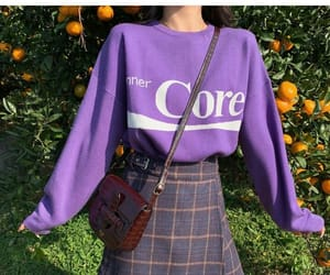 outfit, purple, and skirt image