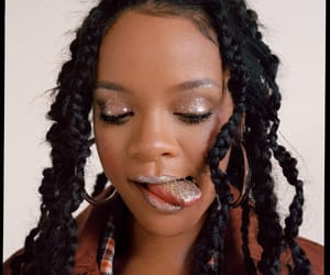 rihanna, glitter, and makeup image