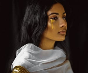 gold, girl, and beauty image
