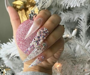 acrylics, christmas, and diamonds image