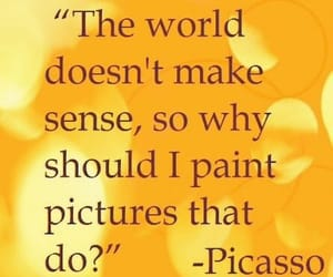 picasso, yellow quotes, and quotes image
