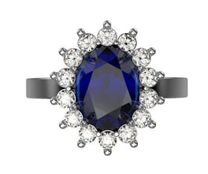 sapphire, engagement ring, and blue sapphire ring image