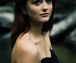 brown eyes, girl, and makeup image