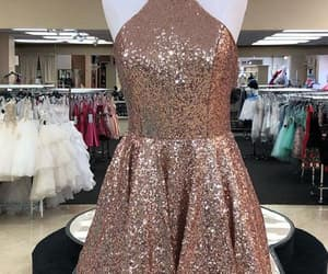 short homecoming dresses, sequin prom dresses, and open back prom dresses image