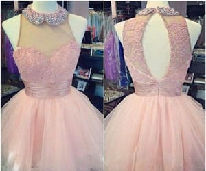prom dresses, cute prom dress, and homecoming dress pink image