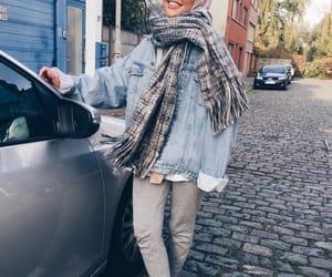 girl, hijab, and street style image