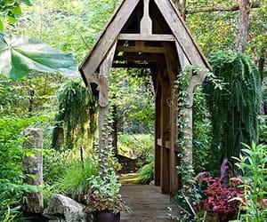 bridge, serenity, and yard image