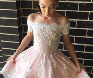 short prom dress, cute homecoming dresses, and prom dress lace image
