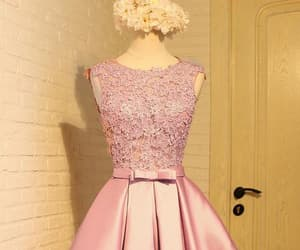pink prom dresses, a-line prom dresses, and sleeveless prom dresses image