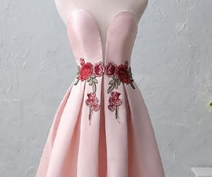 pink prom dresses, sleeveless prom dresses, and lace homecoming dress image