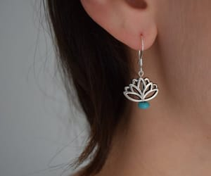 accessories, handcrafted jewelry, and lotus flower image