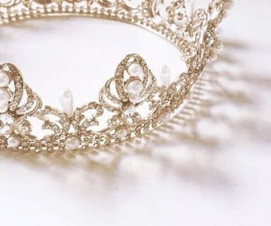 crown, aesthetic, and gold image