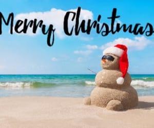 beach, holiday, and x'mas image