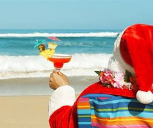 beach, cocktail, and december image