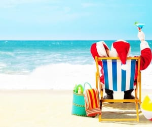 beach, december, and holiday image