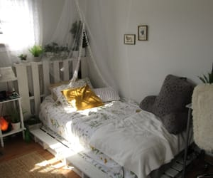 bed, nice, and bedroom image