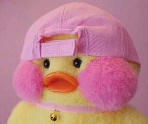 pink, duck, and kawaii image