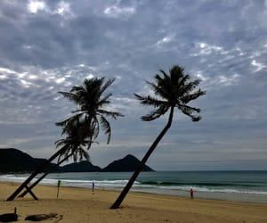 beach, mountain, and sky image