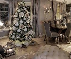 christmas tree, home, and christmas decoration image