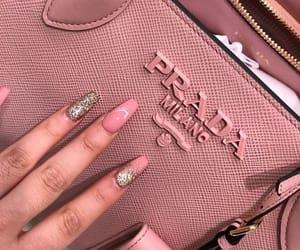 Prada, nails, and pink image