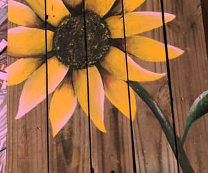 painting, sunflowers, and sunflower image
