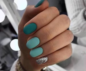 blue, mint, and nails image