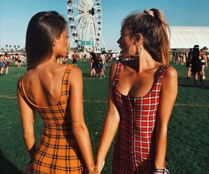 coachella, friends, and girl image