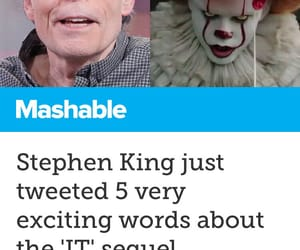 clown, Stephen King, and pennywise image