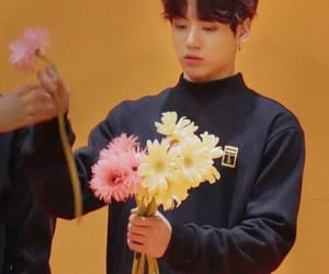 flowers, jk, and bts image