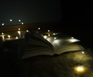 book, dark, and lichterkette image