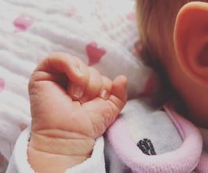baby, whi, and hand image