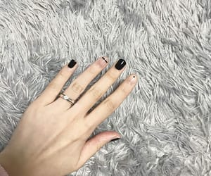 black, nails, and art nail image