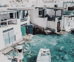 blue, Greece, and sea image