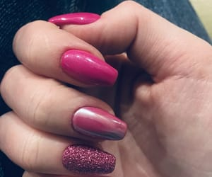 barbie, nails design, and nails image