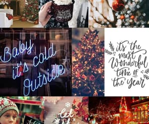 background, christmas, and Collage image